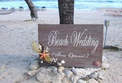 Beach Wedding Shoes Optional Sign