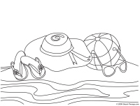 Beach Coloring Page Easy