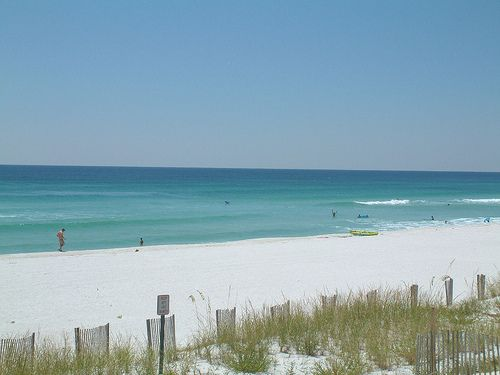 Santa Rosa Sound Okaloosa Island Navarre Beach And Fort Pickens