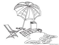Beach Towel Coloring Page Hard